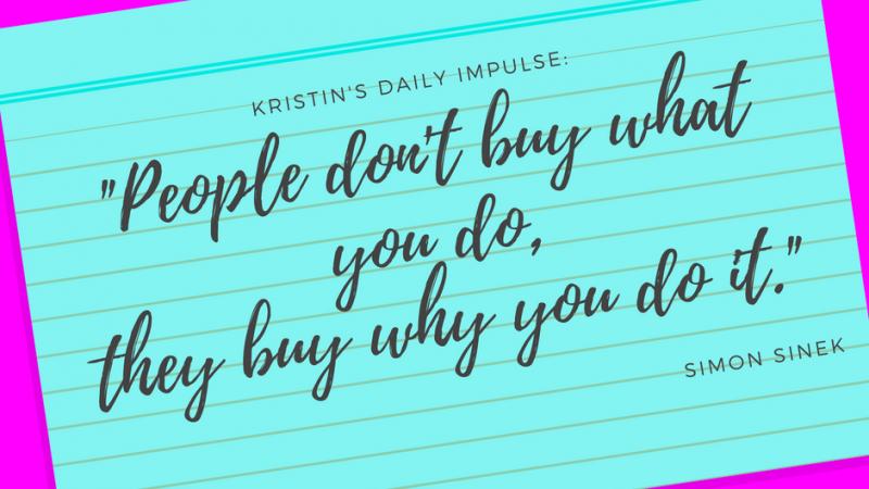 Kristin's daily impulse #14