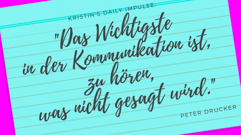 Kristin's daily impulse #15