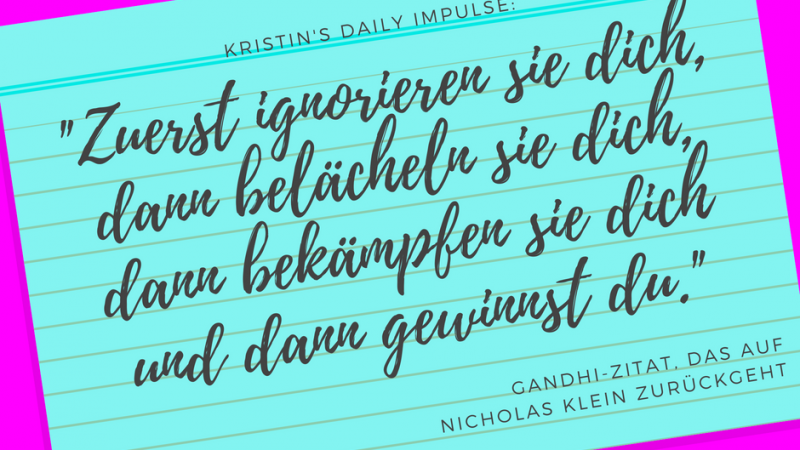 Kristin's daily impulse #17