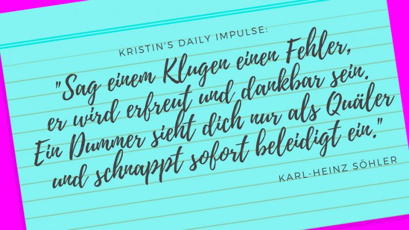Kristin's daily impulse #19