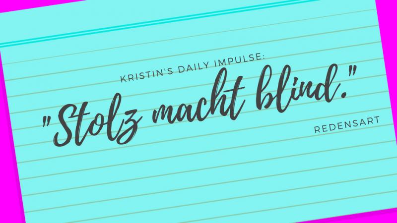 Kristin's daily impulse #26