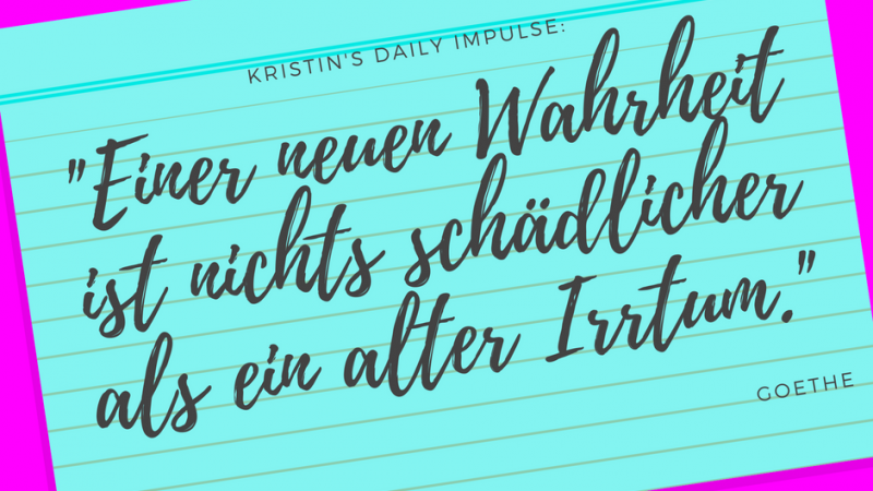Kristin's daily impulse #29