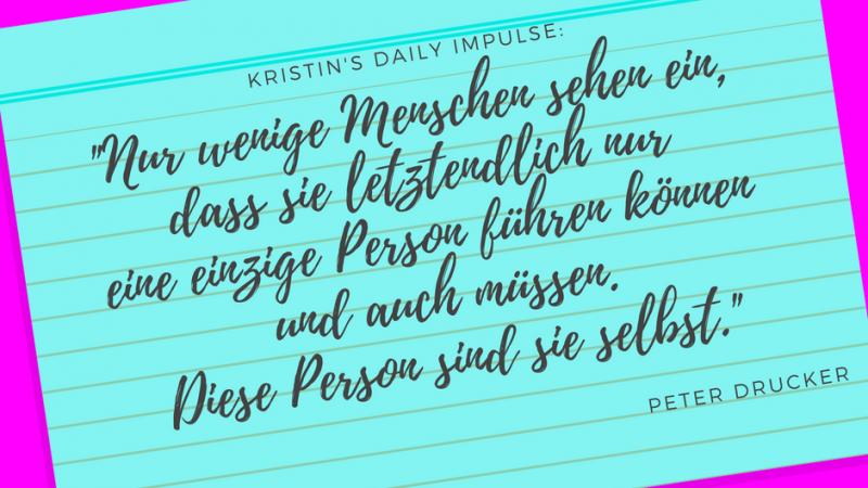 Kristin's daily impulse #30