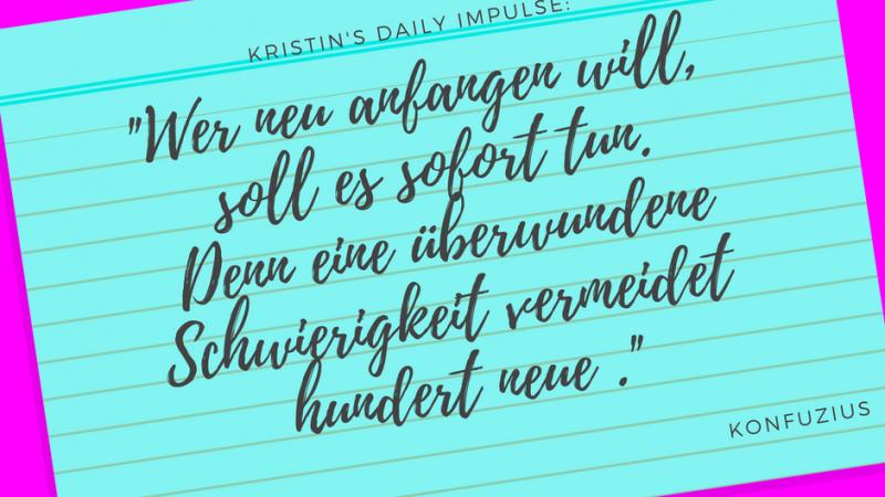 Kristin's daily impulse #31