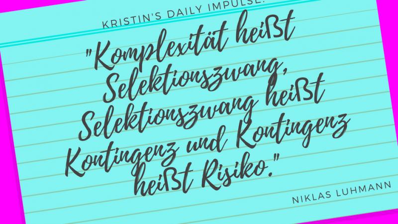Kristin's daily impulse #34