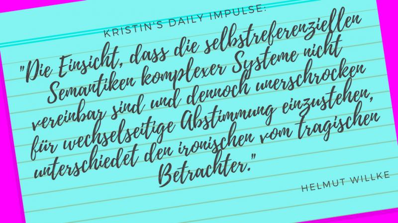 Kristin's daily impulse #41