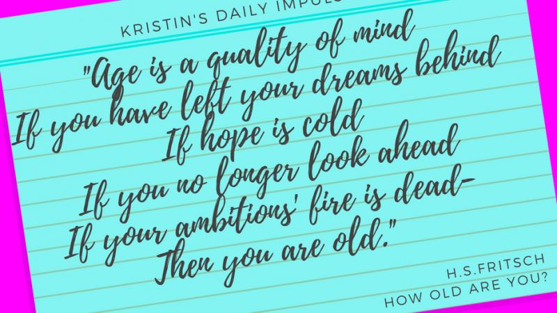 Kristin's daily impulse #45