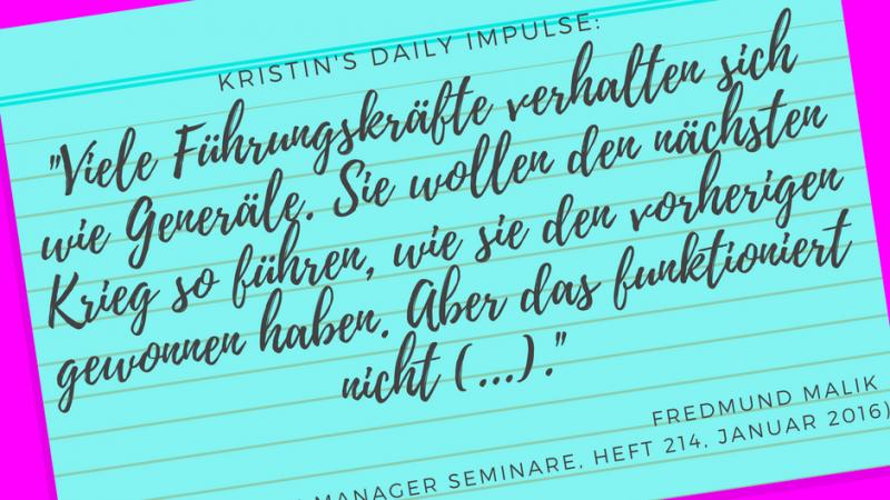 Kristin's daily impulse #55