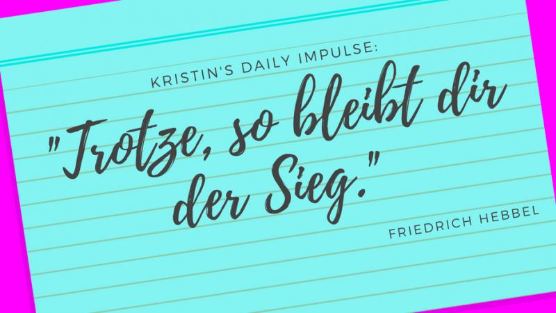 Kristin's daily impulse #59