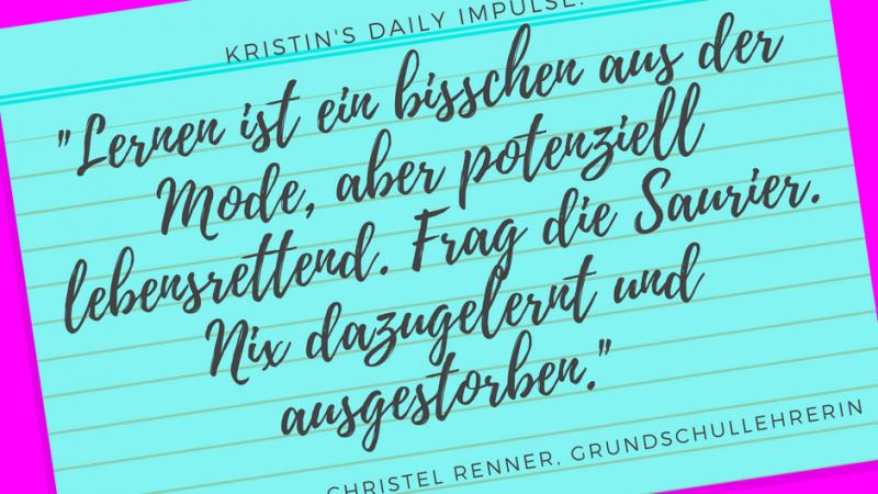 Kristin's daily impulse #61