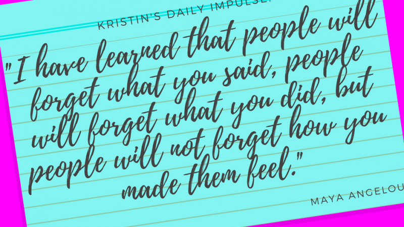 Kristin's daily impulse #87