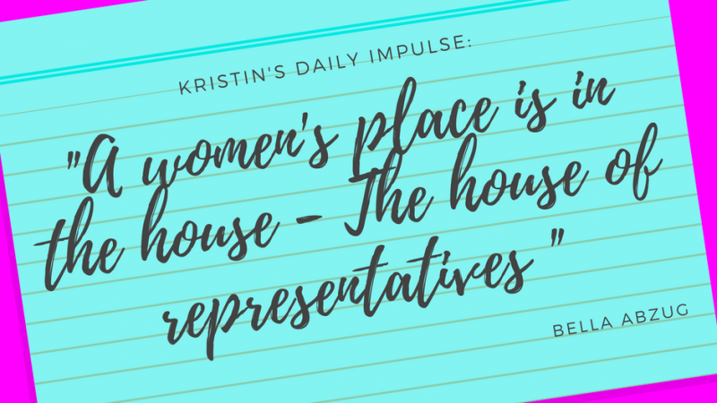 Kristin's daily impulse #91