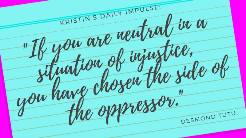 Kristin's daily impulse #94