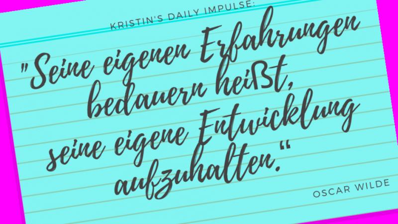 Kristin's daily impulse #121