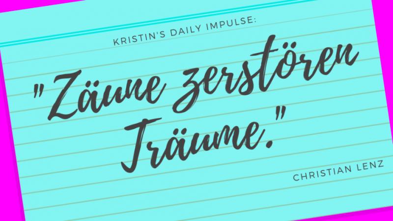 Kristin's daily impulse #130