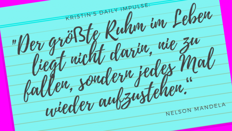 Kristin's daily impulse #191
