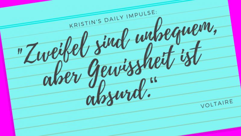 Kristin's daily impulse #192
