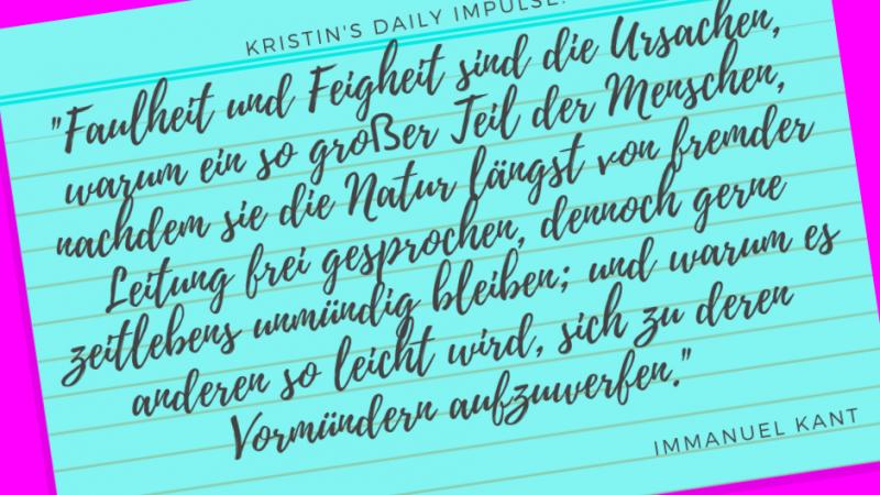 Kristin's daily impulse #194