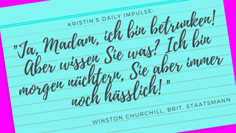 Kristin's daily impulse #196