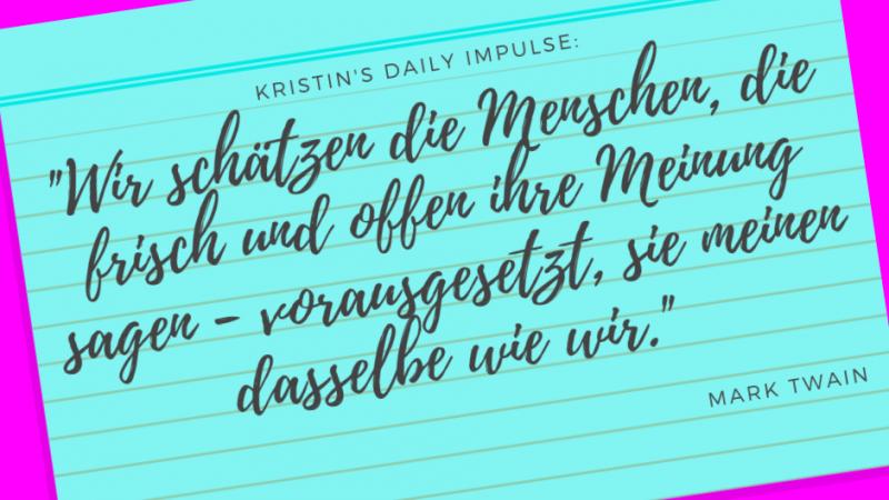 Kristin's daily impulse #197