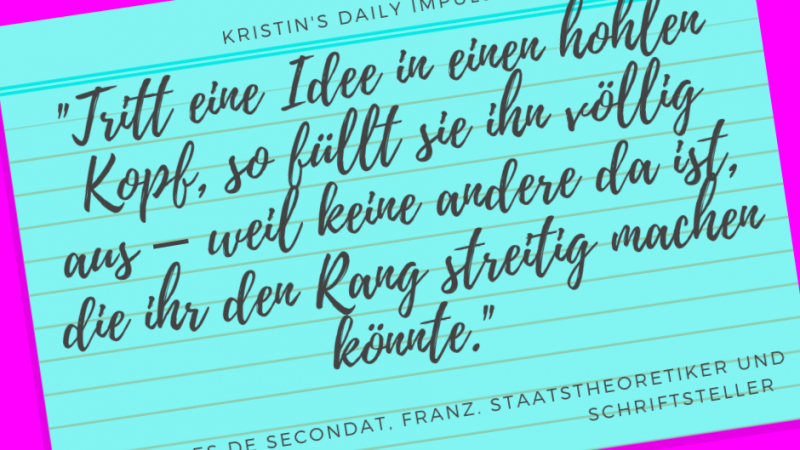 Kristin's daily impulse #199