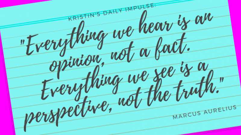 Kristin's daily impulse #261
