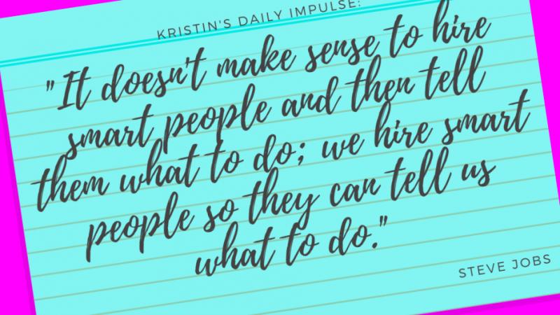 Kristin's daily impulse #262