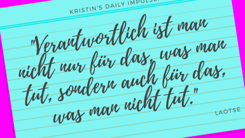 Kristin's daily impulse #269