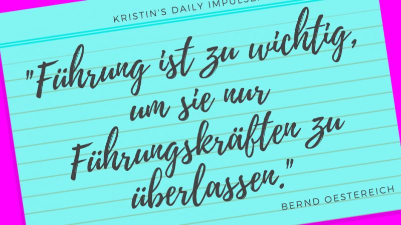 Kristin's daily impulse #282