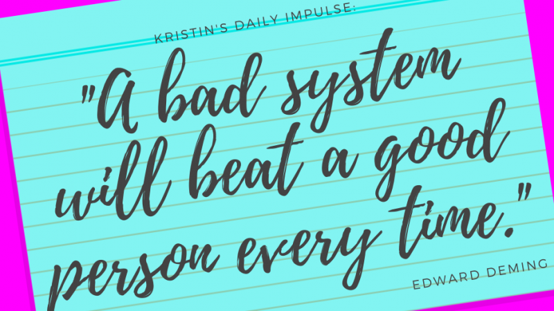 Kristin's daily impulse #284