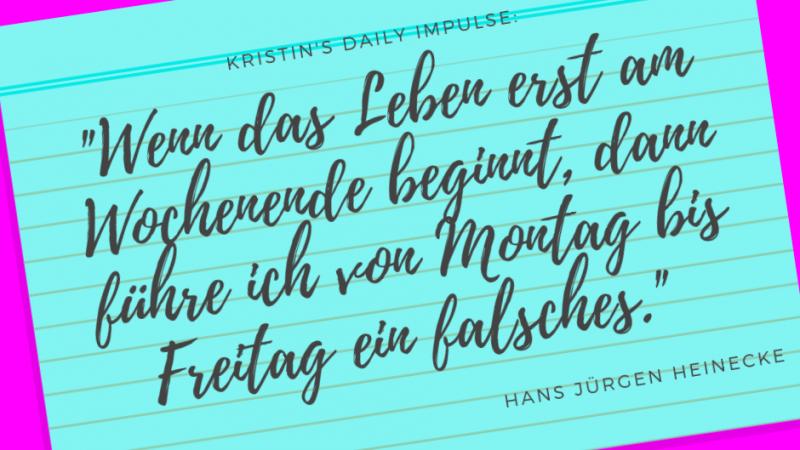Kristin's daily impulse #320