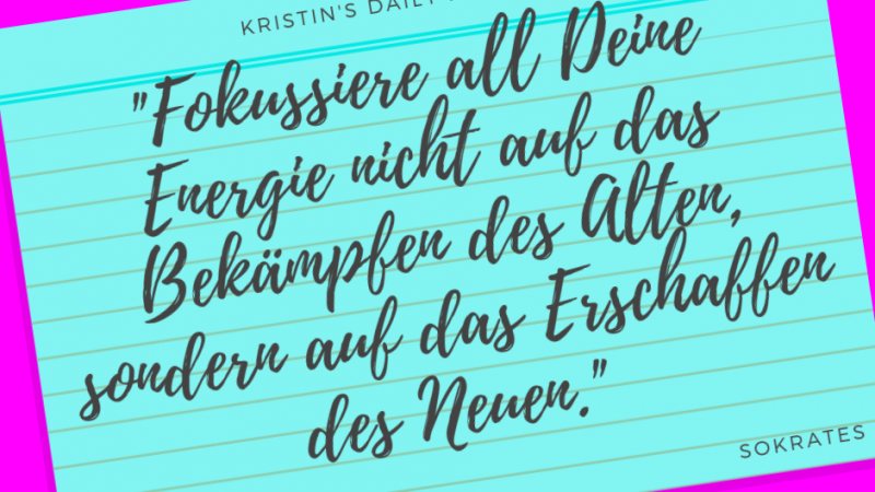 Kristin's daily impulse #321