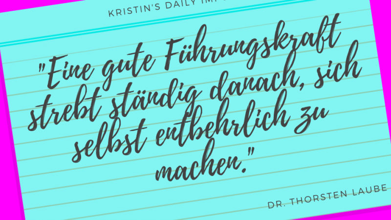 Kristin's daily impulse #341
