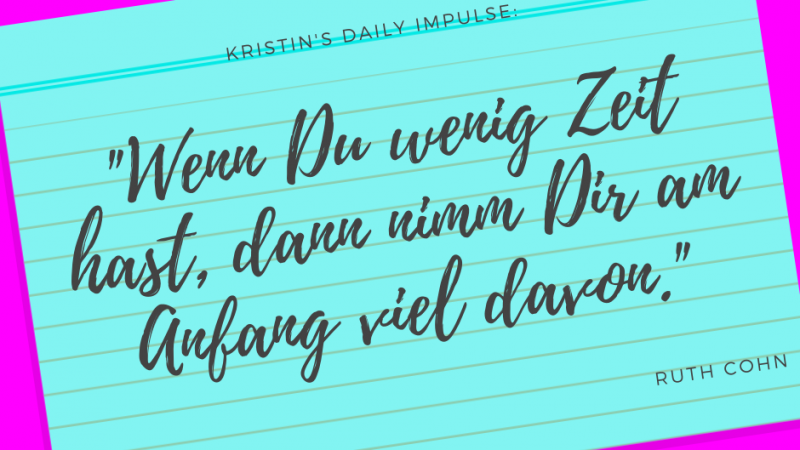 Kristin's daily impulse #342