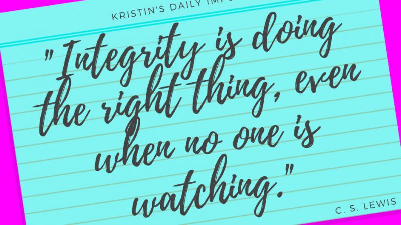 Kristin's daily impulse #344