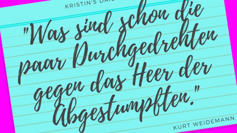 Kristin's daily impulse #362